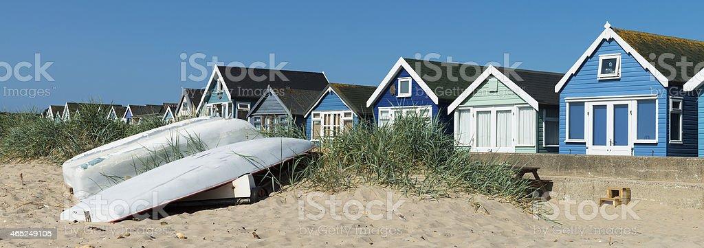 Hengistbury Head Beach Huts stock photo