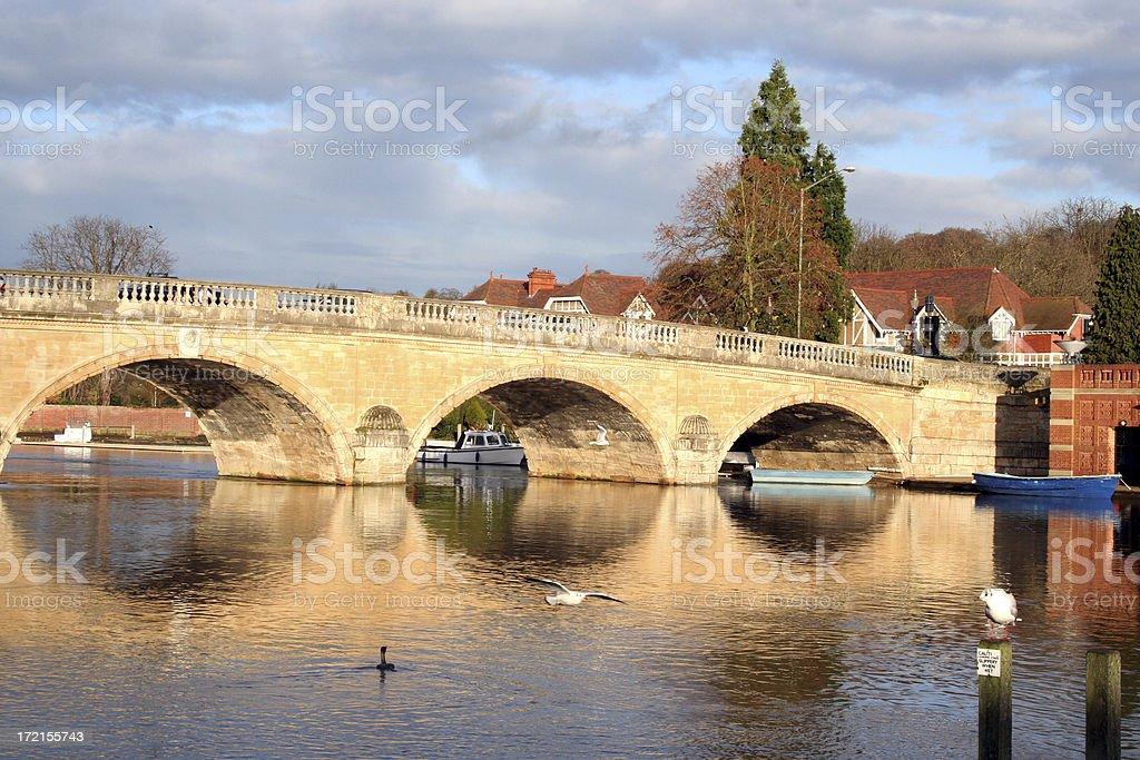Henley Bridge over the River Thames stock photo