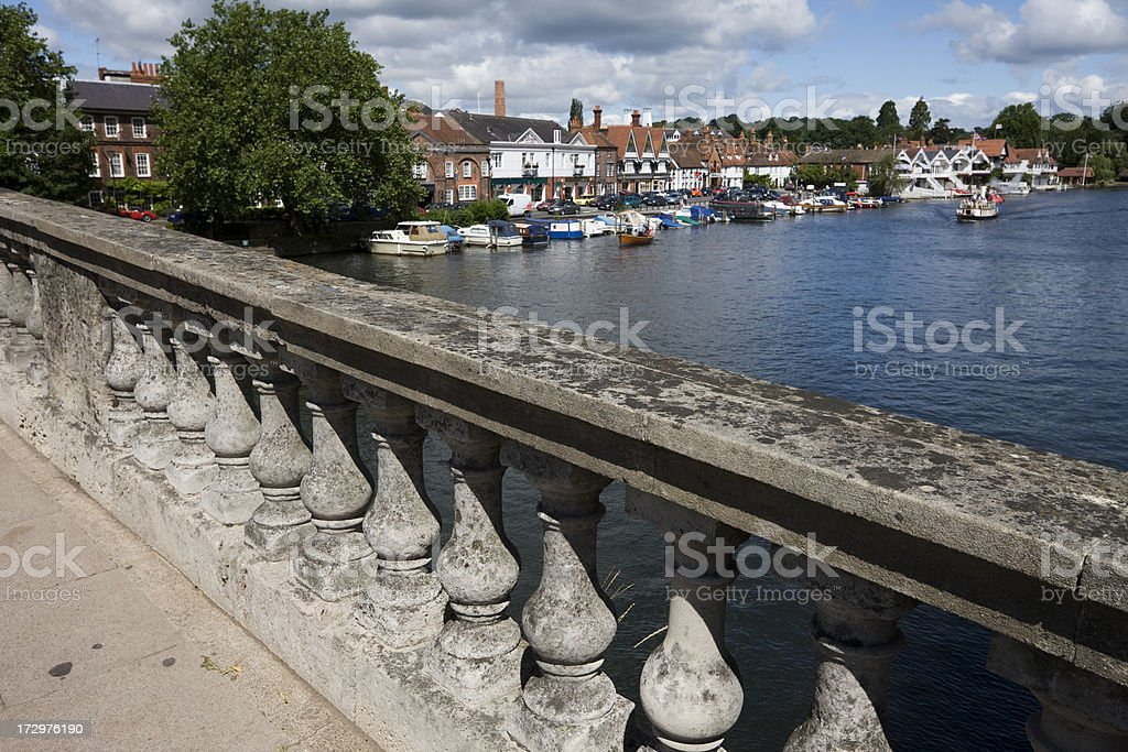 Henley from The Bridge stock photo