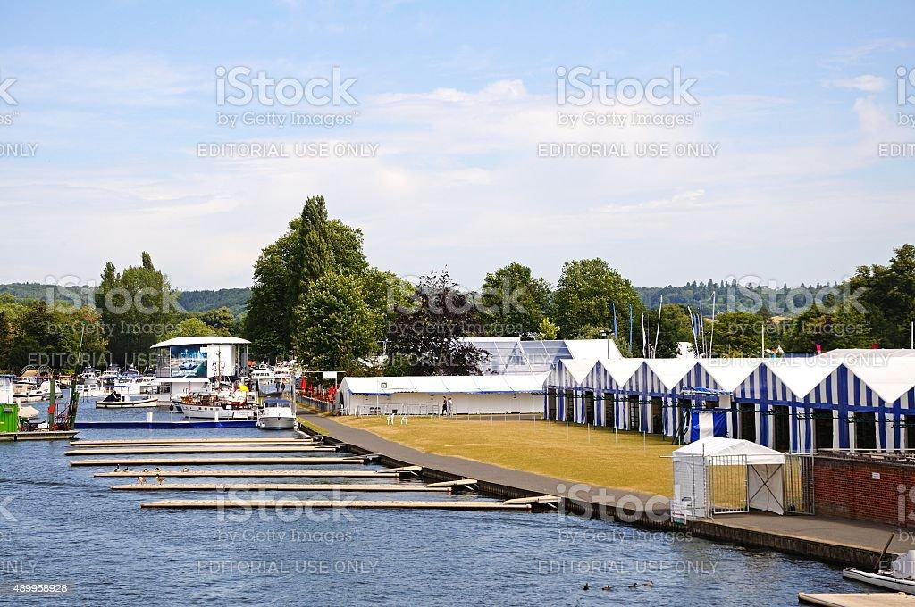 Henley Regatta Hospitality Chalets. stock photo