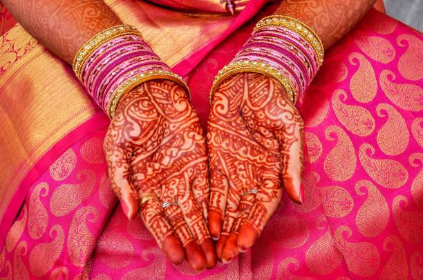 henna-design - brautstyling stock-fotos und bilder