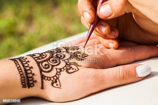 istock henna drawing mehendi 889019946
