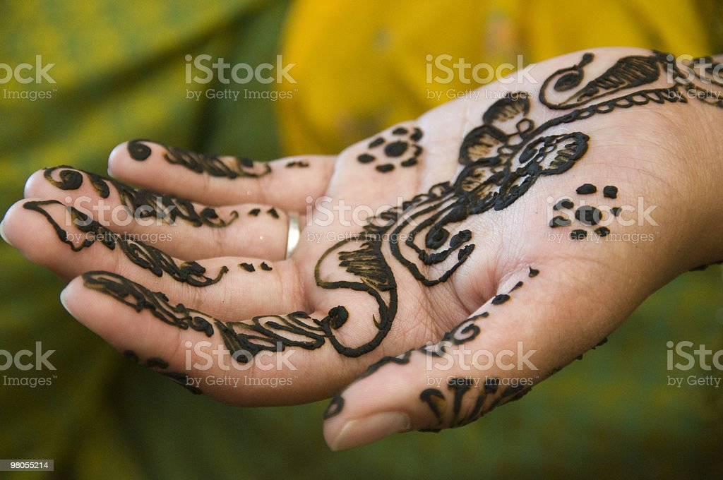 Henna Hand royalty-free stock photo