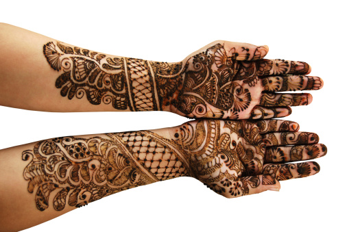 Henna (Mehandi) - Isolated over white