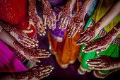 istock Henna - Mehndi hands 929542458