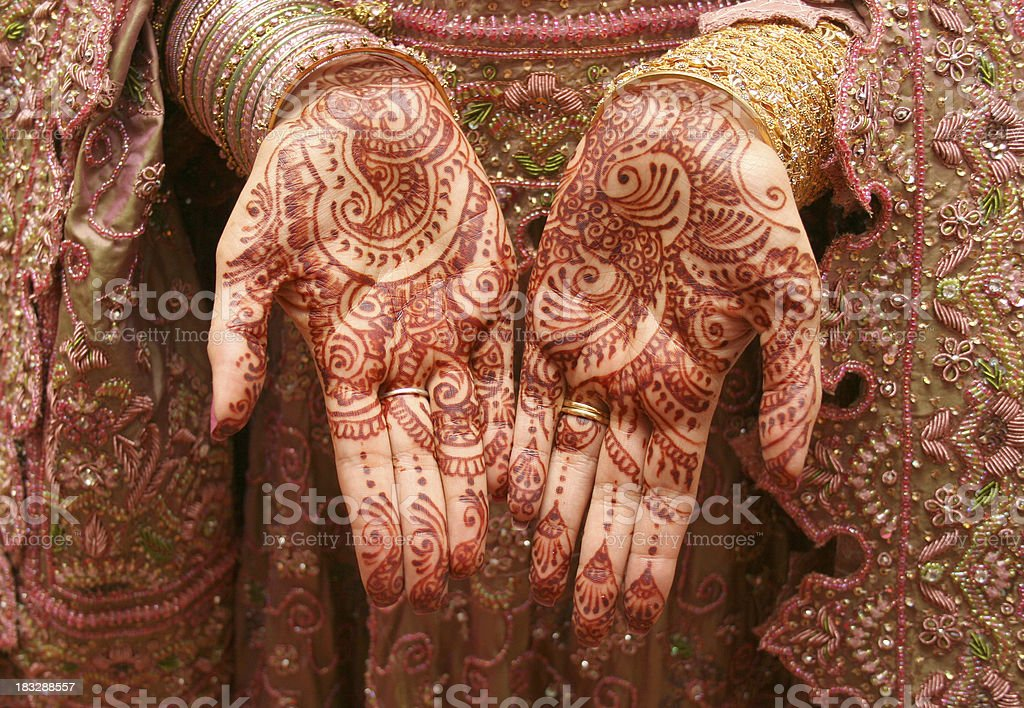 Henna - Mehndi royalty-free stock photo