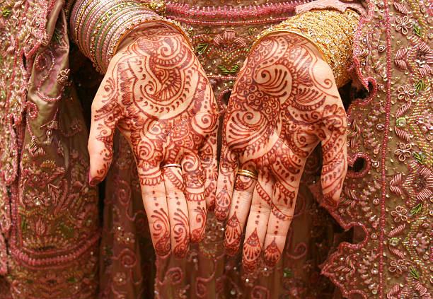 de henna mehndi - diseños de bodas fotografías e imágenes de stock