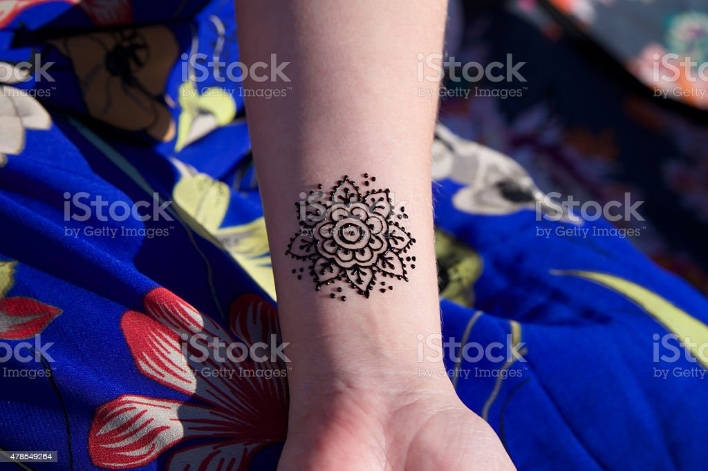 Henna Tattoo Mehendy On Hand Mandala Stock Photo More Pictures Of