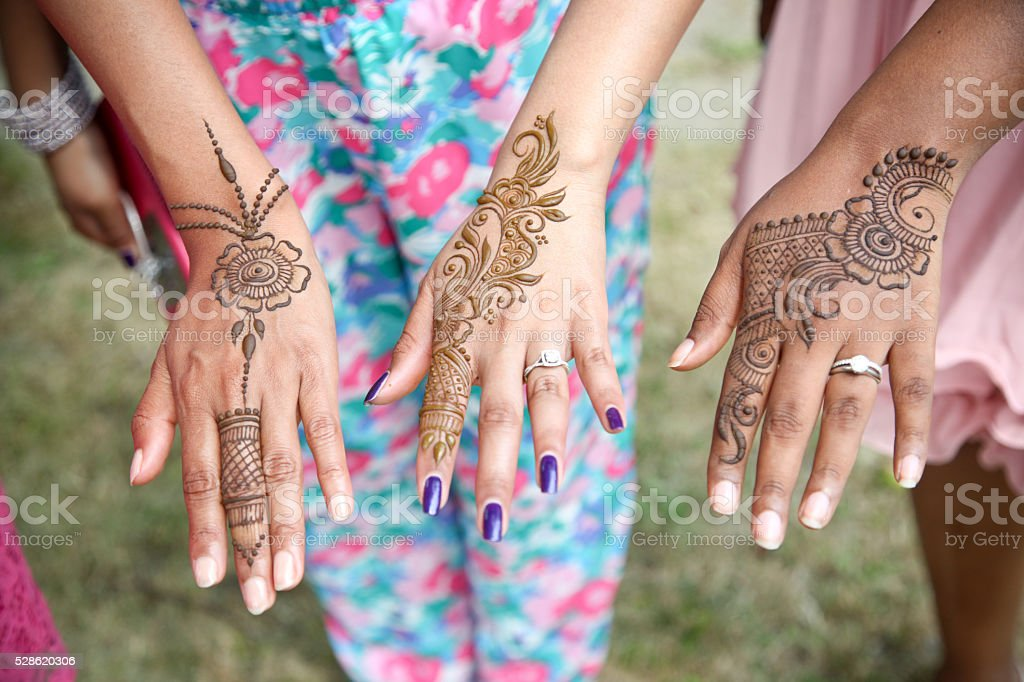 henna tattoo stock photo