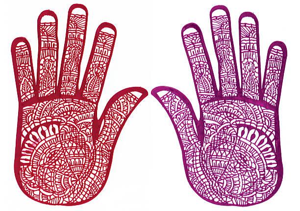 henna-tattoo-vorlagen - buddhist tattoos stock-fotos und bilder