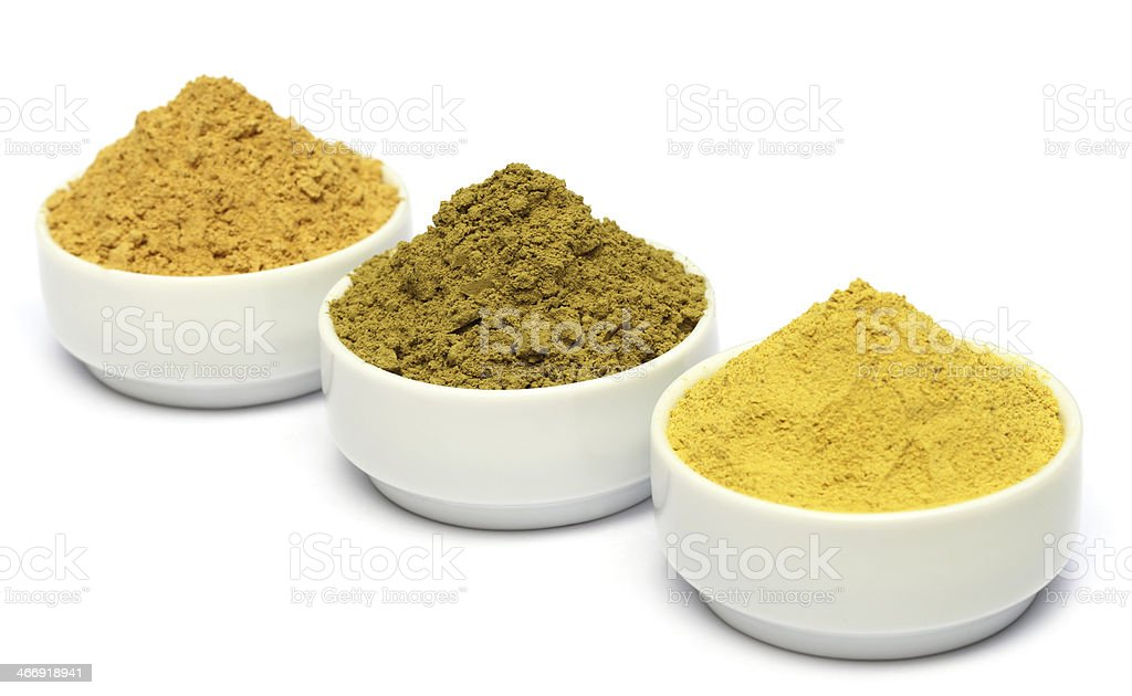 Henna uptan sandalwood powder stock photo