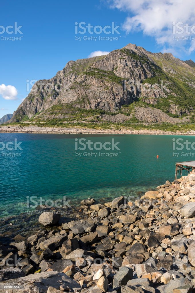 henningsvaer at Lofoten in Norway stock photo