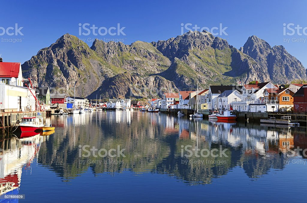Henningsvaer, Norway stock photo