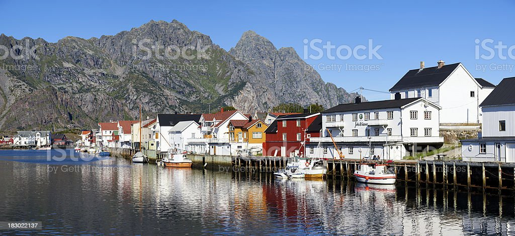 Henningsvaer royalty-free stock photo