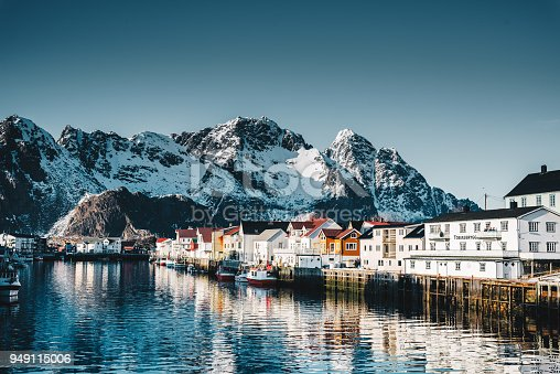 istock Henningsvær village at the lofoten 949115006