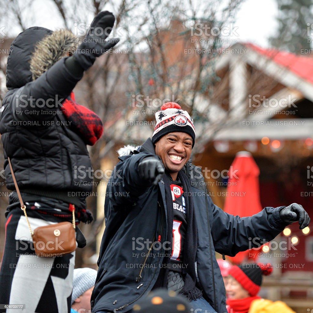Henry Burris in Grey Cup Parade stock photo