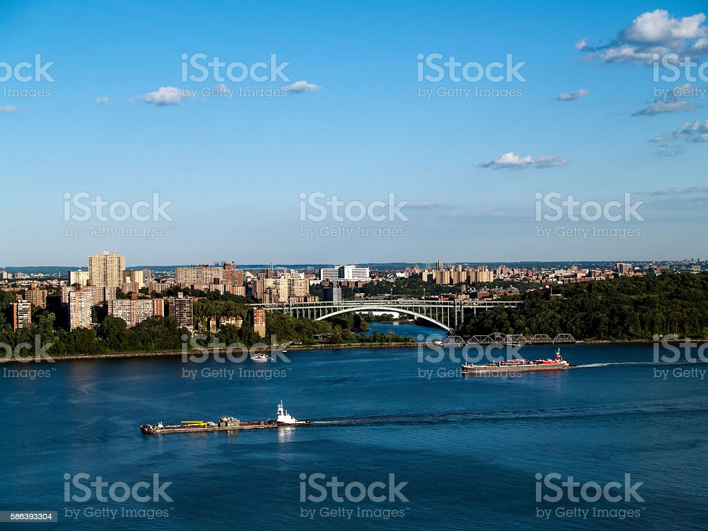 Henry Hudson Bridge, New York stock photo