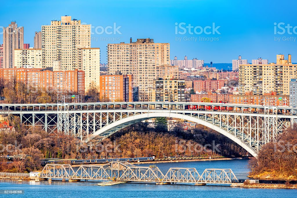 Henry Hudson Bridge stock photo