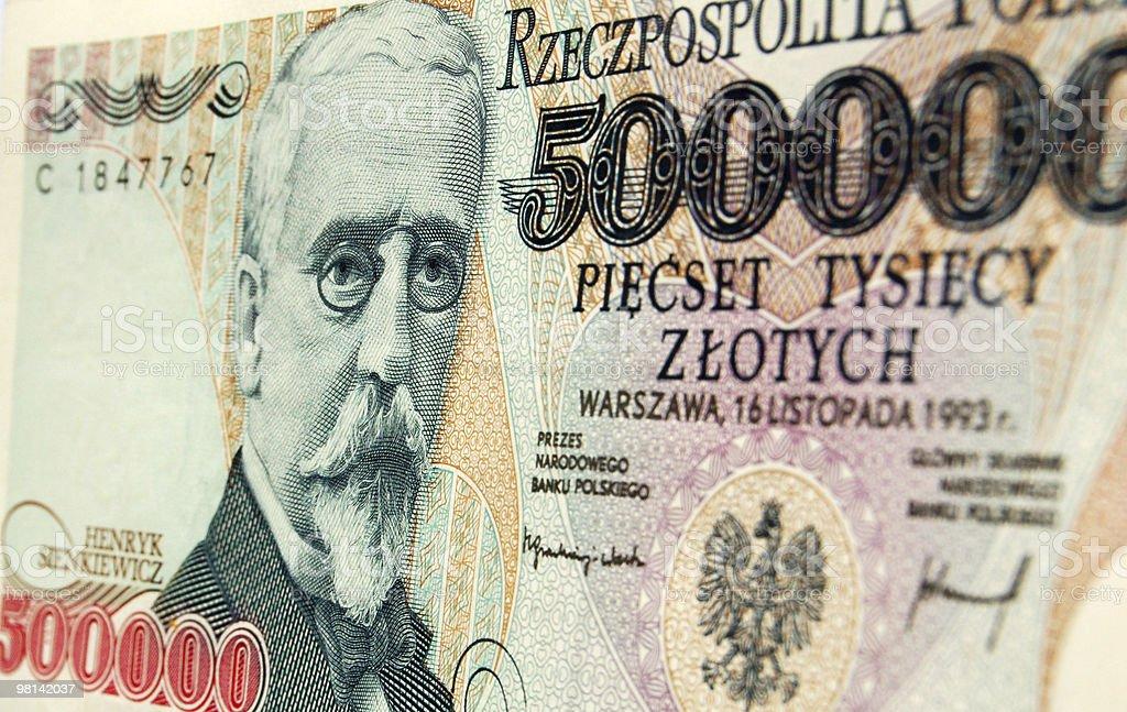 의장과 Sienkiewicz 닦다 지폐 royalty-free 스톡 사진
