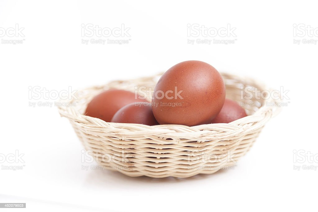 Hens Brown Eggs stock photo