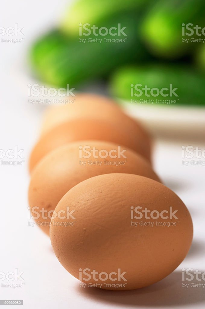 hen's eggs on the cook-table royalty-free stock photo