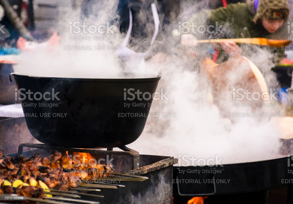 Henteshiv Festival 2018 in Hecha Ukraine stock photo