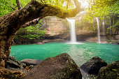 Heo Suwat Waterfall Khao Yai National Park in Thailand.