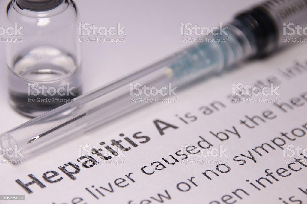 Hepatitis A Vaccine stock photo