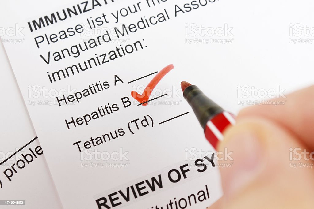 Hepatitis B royalty-free stock photo