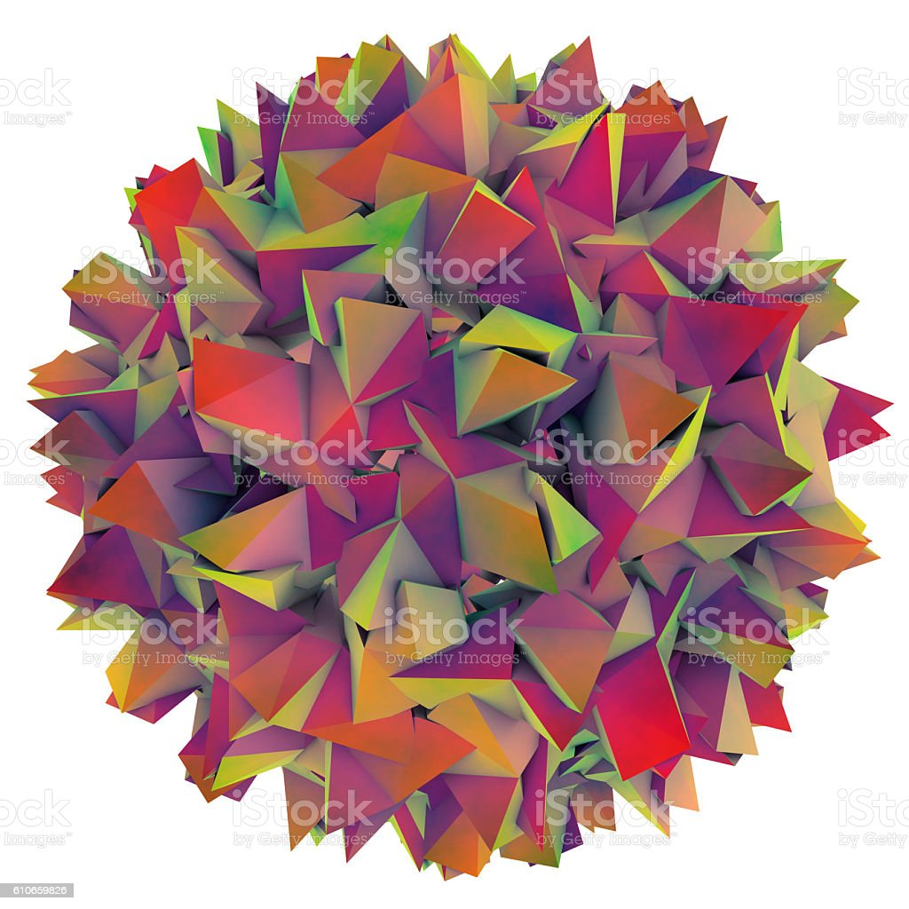 Hepatitis B viruses illustration stock photo