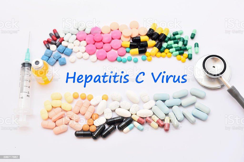 Hepatitis C virus stock photo