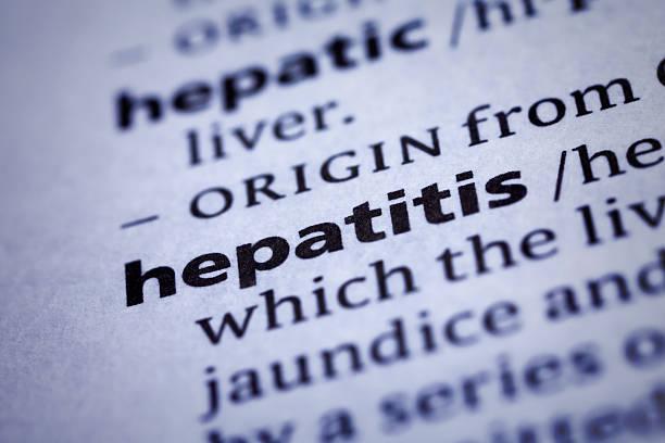 hepatitis: wörterbuch-nahaufnahme - definition krankheit stock-fotos und bilder