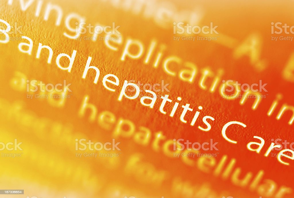 Hepatitis stock photo