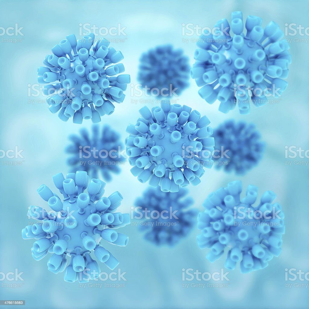 Hepatitis Virus - 3d rendered illustration stock photo