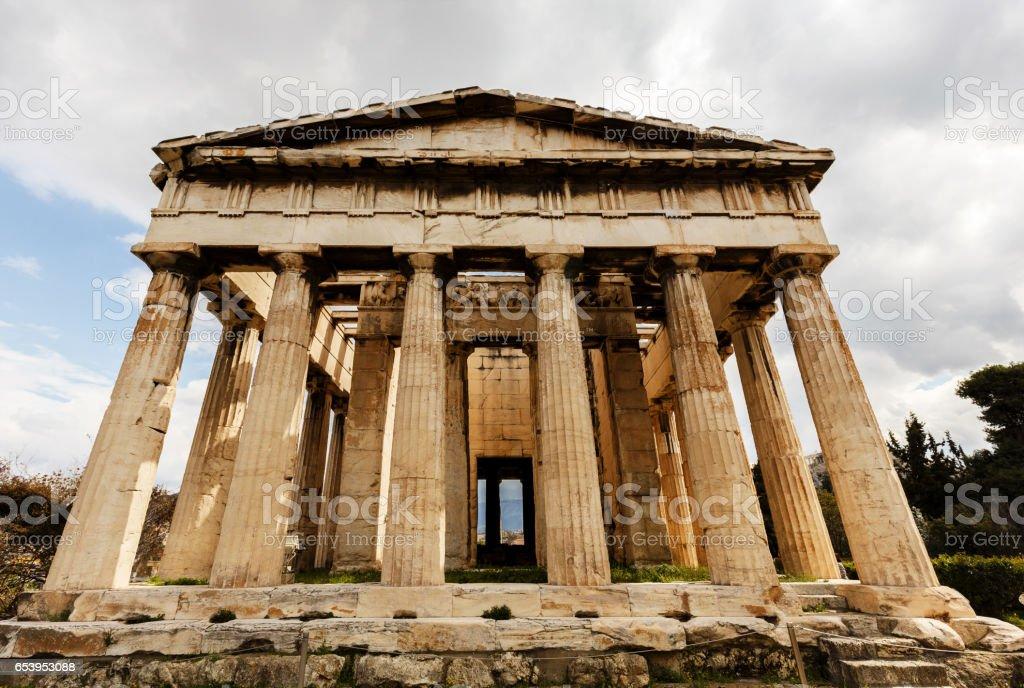 Hephaestus Temple Athens Greece stock photo