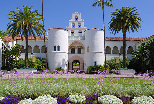 Hepner Hall at San Diego State University stock photo