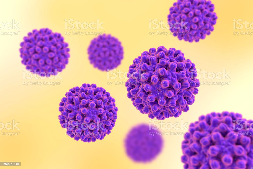 Heptitis B viruses on colorful background stock photo