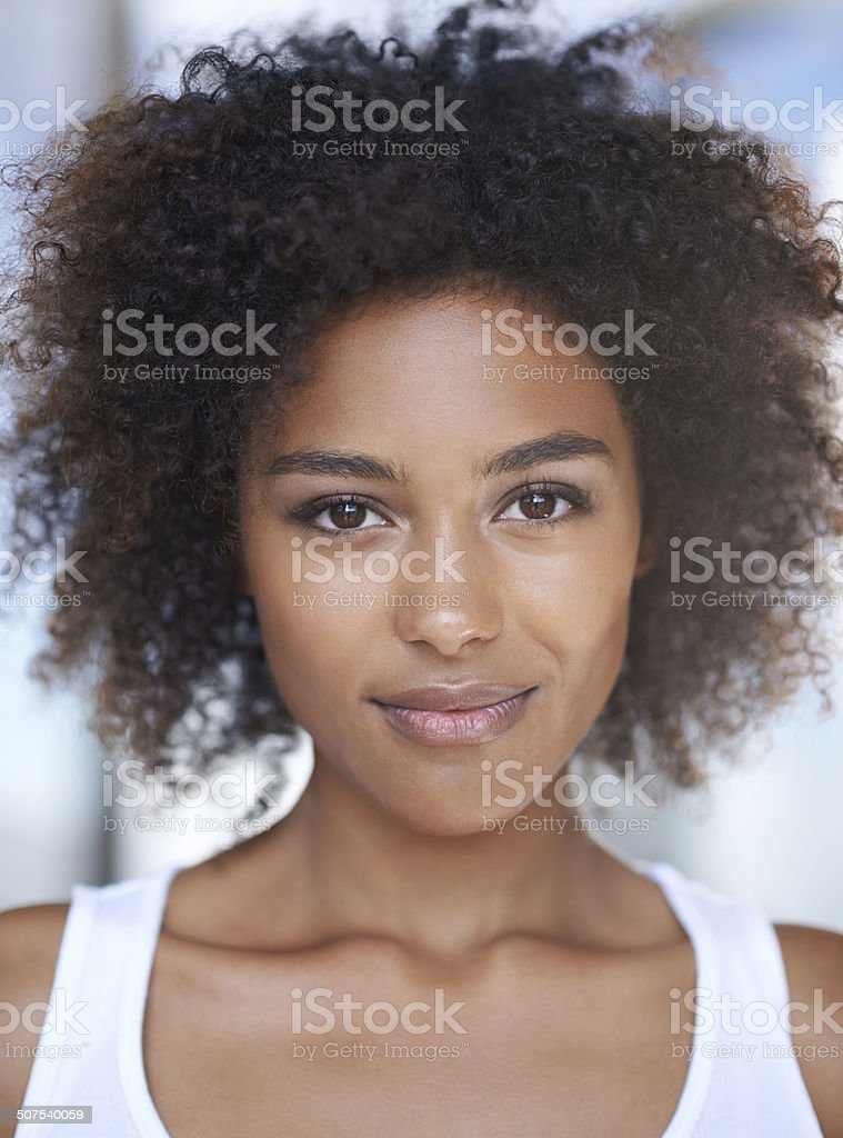 Her beauty comes naturally stock photo