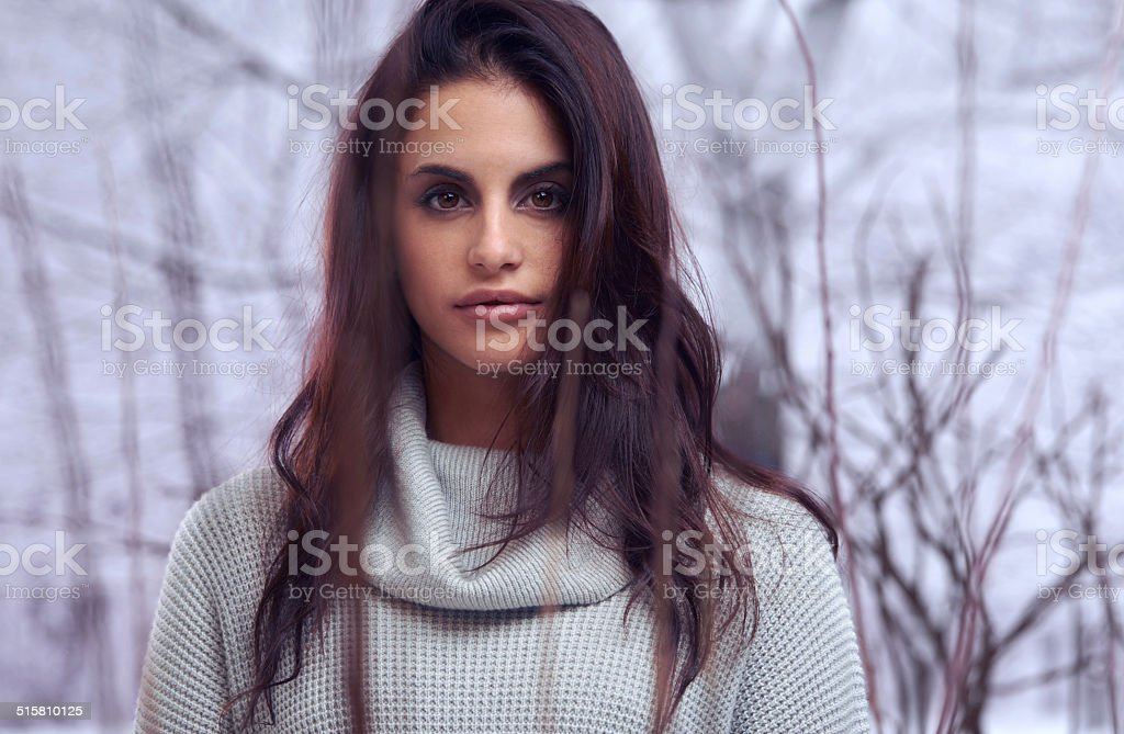 Her beauty could melt the coldest winter stock photo