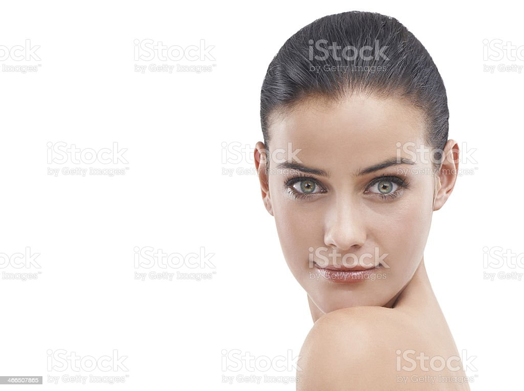 Her beauty is 100 percent natural royalty-free stock photo