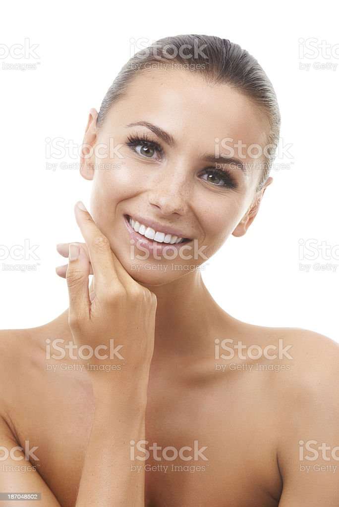 Her beauty treatment really paid off royalty-free stock photo