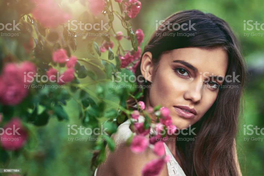 Her beauty will enchant you stock photo