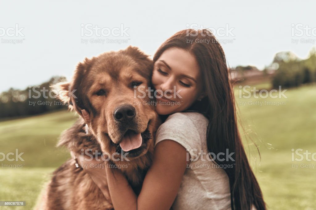 Her best friend. stock photo