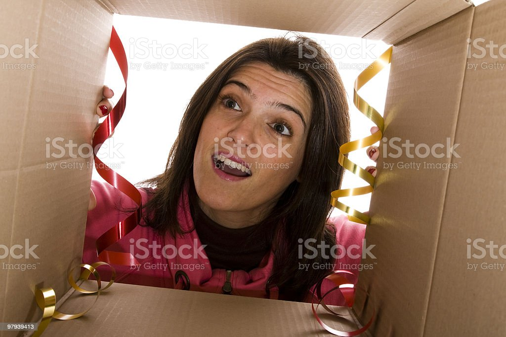 Her best present royalty-free stock photo