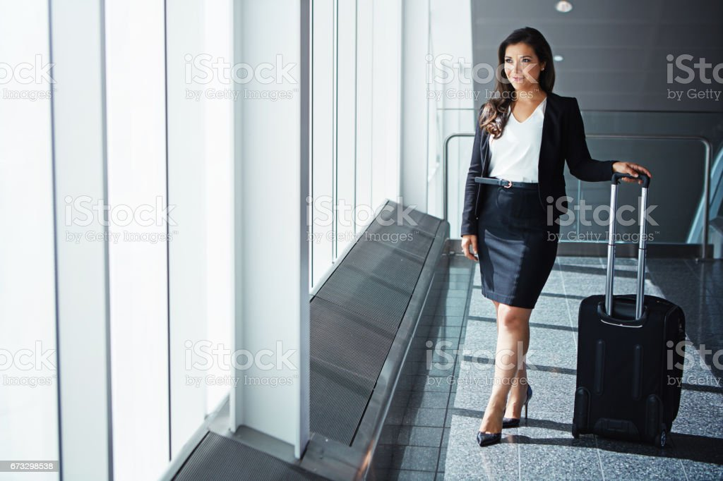 Her career is ready for takeoff royalty-free stock photo