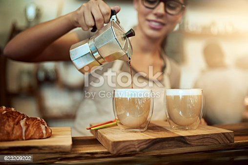istock Her coffee skills will keep you coming back for more 623209202