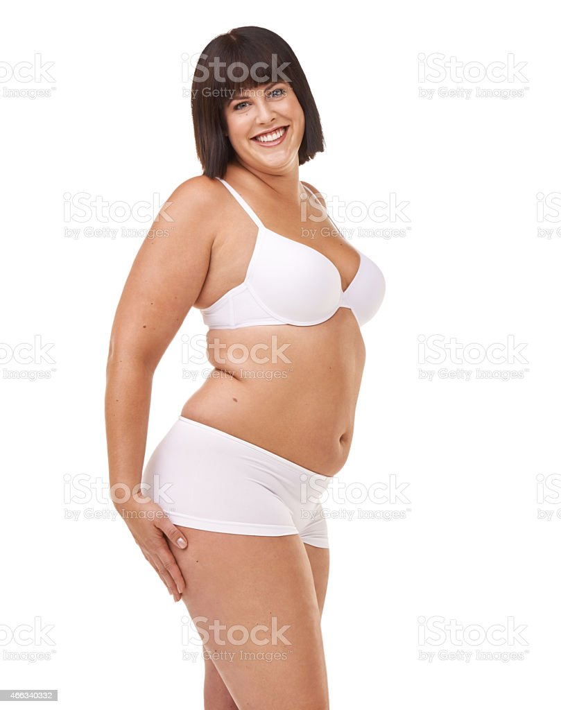 Her confidence is all natural stock photo