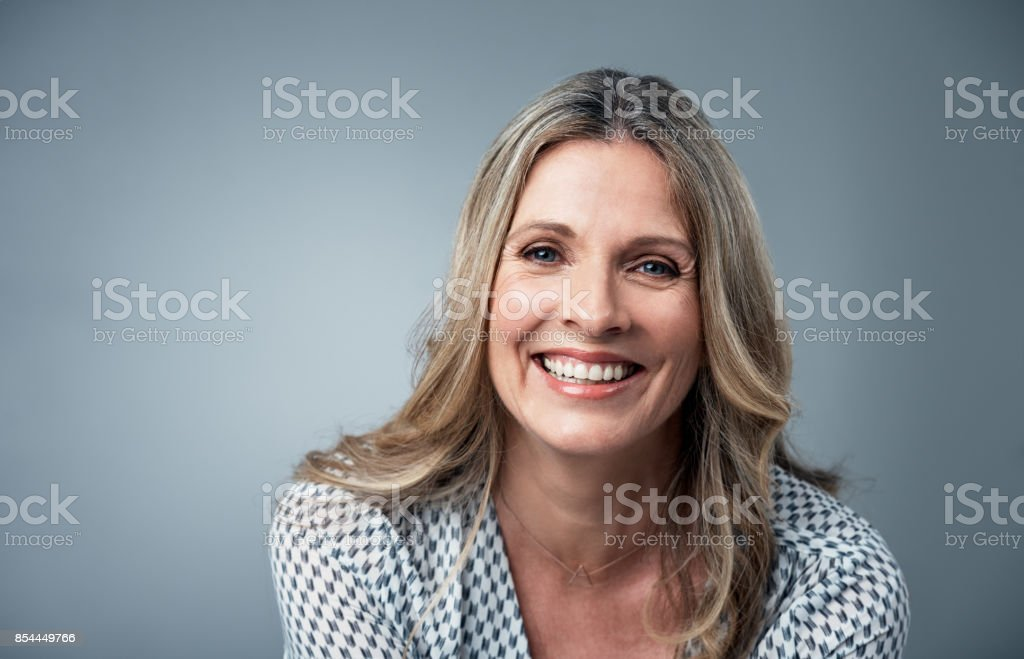 Her confidence just shines stock photo