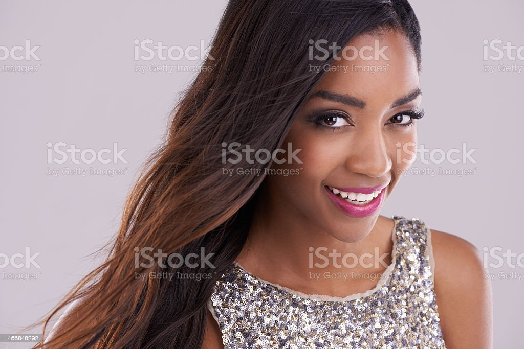 Her confidence says a lot about her stock photo