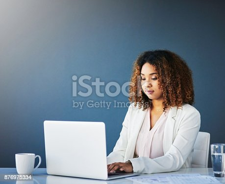 istock Her desk is her comfort zone 876975334